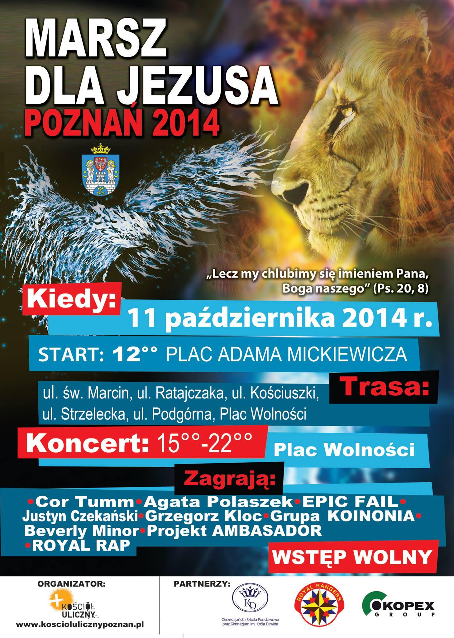 Marsz dla Jezusa przejdzie ulicami Poznania!