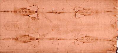 Negatyw twarzy Chrystusa z całunu Turyńskiego Inne zdjęcia Całunu (pozytyw i negatyw)