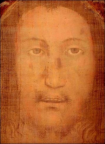 Volto Santo from Manoppello (Italia). Święte Oblicze, całun z Manoppello (Włochy). foto wikipedia